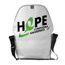 Fight Strong Lymphoma Awareness Support Gift Courier Bag