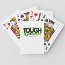 Fight Strong Lymphoma Awareness Support Gift Playing Cards
