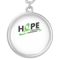 Fight Strong Lymphoma Awareness Support Gift Silver Plated Necklace