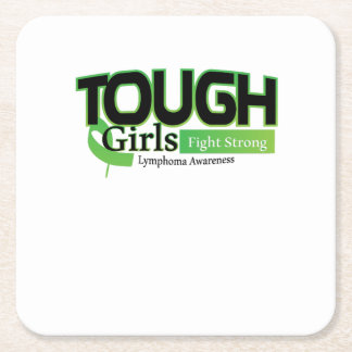 Fight Strong Lymphoma Awareness Support Gift Square Paper Coaster