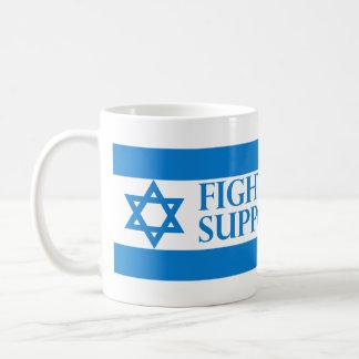 Fight Terror, Support Israel Classic White Coffee Mug