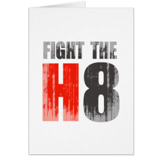 FIGHT THE H8 Faded png Cards