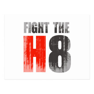 FIGHT THE H8 Faded png Post Card