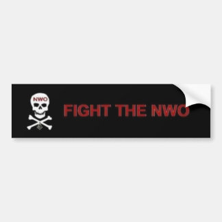 Fight the New World Order Car Bumper Sticker