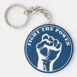 Fight The Power Basic Round Button Keychain
