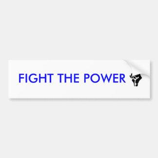 FIGHT THE POWER BUMPER STICKER