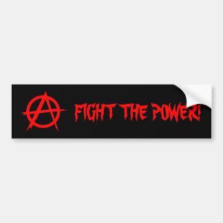 FIGHT THE POWER! Bumpersticker Car Bumper Sticker