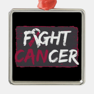 Fight Throat Cancer Christmas Tree Ornament
