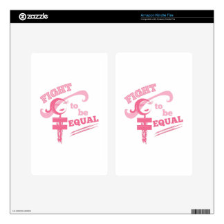 Fight To Be Equal Kindle Fire Decals