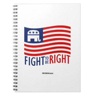 FIGHT TO BE RIGHT SPIRAL NOTE BOOK