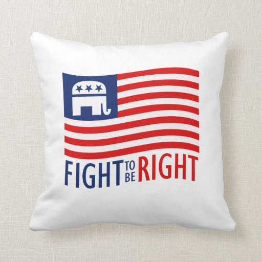 FIGHT TO BE RIGHT.png Throw Pillows