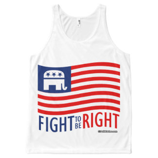 FIGHT TO BE RIGHT - Politiclothes Humor -.png All-Over Print Tank Top
