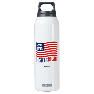 FIGHT TO BE RIGHT 16 OZ INSULATED SIGG THERMOS WATER BOTTLE