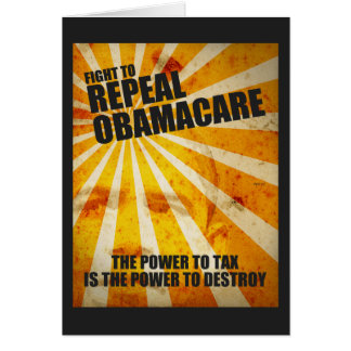 Fight To Repeal Obamacare Greeting Card