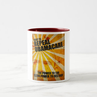 Fight To Repeal Obamacare Two-Tone Coffee Mug
