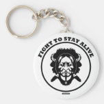 """""""Fight to STAY ALIVE"""" 2.25"""" button keychain"""