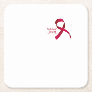 Fight To Win Against Brain Aneurysm Awareness Square Paper Coaster
