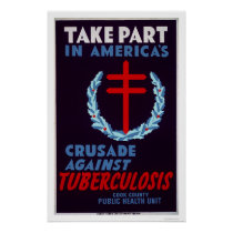 Fight Tuberculosis 1940 WPA Poster