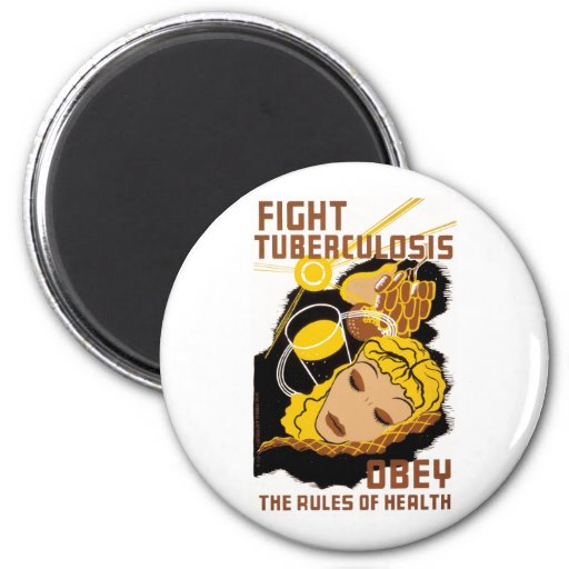 Fight Tuberculosis 2 Inch Round Magnet