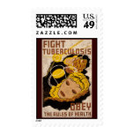 Fight Tuberculosis Obey The Rules Of Health Postage Stamp