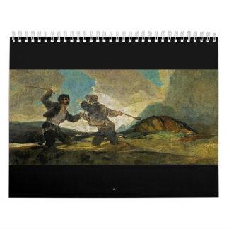 Fight with Cudgels by Francisco Goya c 1820 Calendar