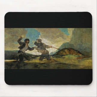 Fight with Cudgels by Francisco Goya c 1820 Mouse Pad
