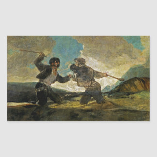 Fight with Cudgels by Francisco Goya c 1820 Stickers
