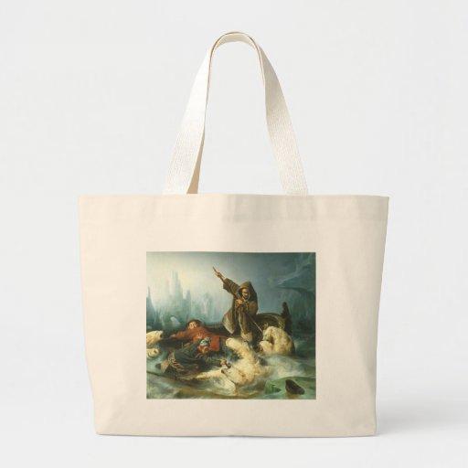 Fight with Polar Bears Jumbo Tote Bag