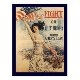 Fight World War 2 Postcard