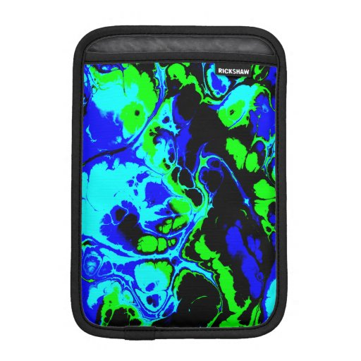 Fighter, 02, neon colors iPad mini sleeve