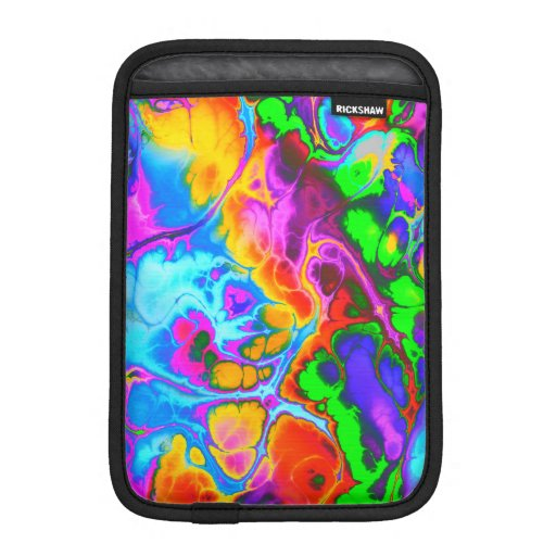 Fighter, 05, neon colors iPad mini sleeve