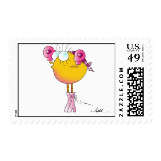 FIGHTER CHICK Breast Cancer Awareness Stamps