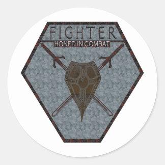 Fighter Classic Round Sticker