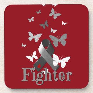 Fighter Diabetes Awareness Ribbon Beverage Coaster