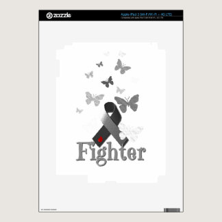 Fighter Diabetes Awareness Ribbon iPad 3 Skins