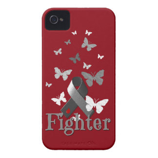 Fighter Diabetes Awareness Ribbon iPhone 4 Case-Mate Case