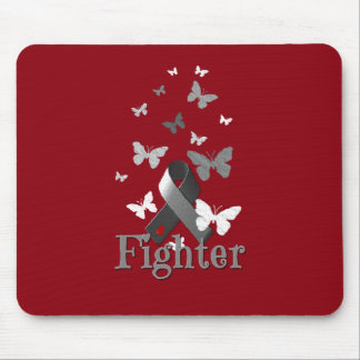 Fighter Diabetes Awareness Ribbon Mouse Pad