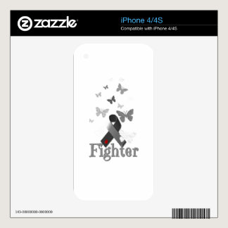 Fighter Diabetes Awareness Ribbon Skin For iPhone 4S
