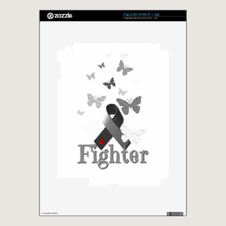 Fighter Diabetes Awareness Ribbon Skins For The iPad 2