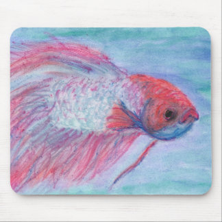Fighter Fish Mouse Pad
