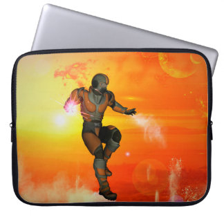 Fighter in the sunset laptop computer sleeve
