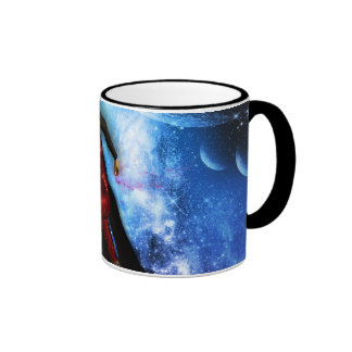 Fighter in the universe ringer coffee mug