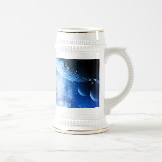 Fighter in the universe 18 oz beer stein