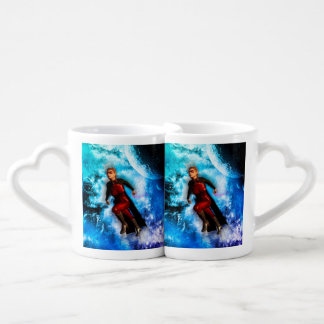 Fighter in the universe couples' coffee mug set
