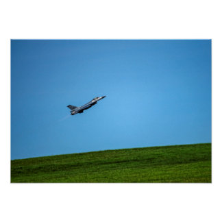 Fighter Jet Aircraft Taking Off Poster