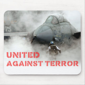 Fighter jet aircraft: United against terror Mouse Pad