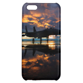 Fighter Jet Airplane at Sunset Military Gifts iPhone 5C Covers