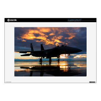 "Fighter Jet Airplane at Sunset Military Gifts Skin For 15"" Laptop"