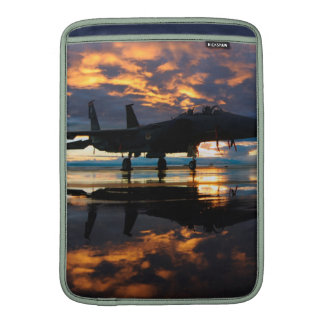 Fighter Jet Airplane at Sunset Military Gifts Sleeve For MacBook Air