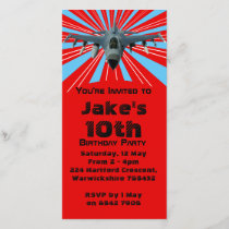 Fighter Jet Birthday Party Invitation